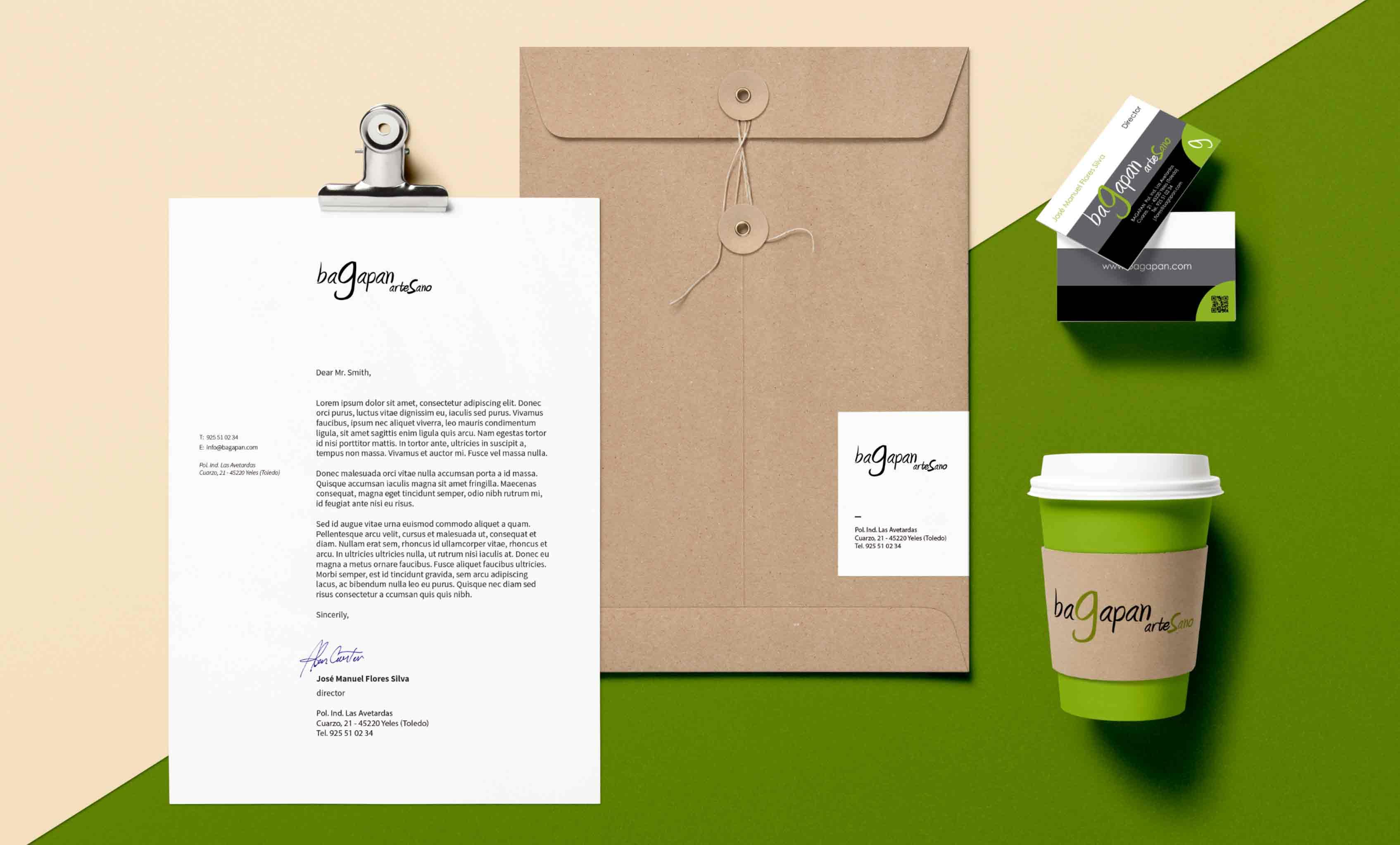 Diseño de la identidad corporativa de Bagapan Artesano