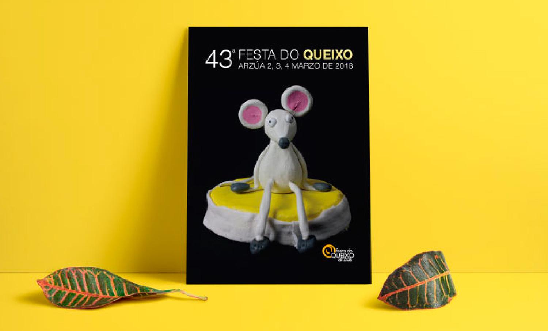 Diseño de cartelería para la Fiesta del Queso de Arzúa 2018