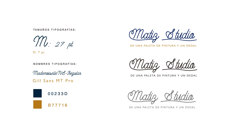 Identidad corporativa Matiz Studio por Andrea Candamio